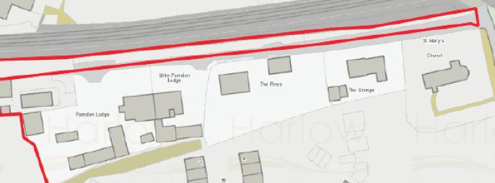 Plan for nine houses near Parndon Mill