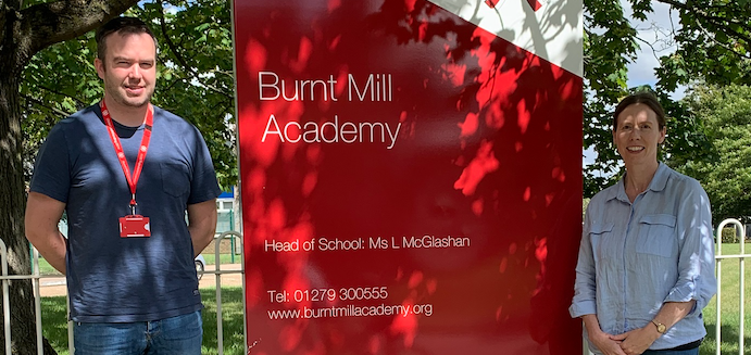 Strong work ethic of Burnt Mill Academy students praised as they receive their GCSE results.
