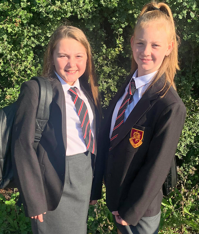 Happy Year 7 pupils start their senior school careers