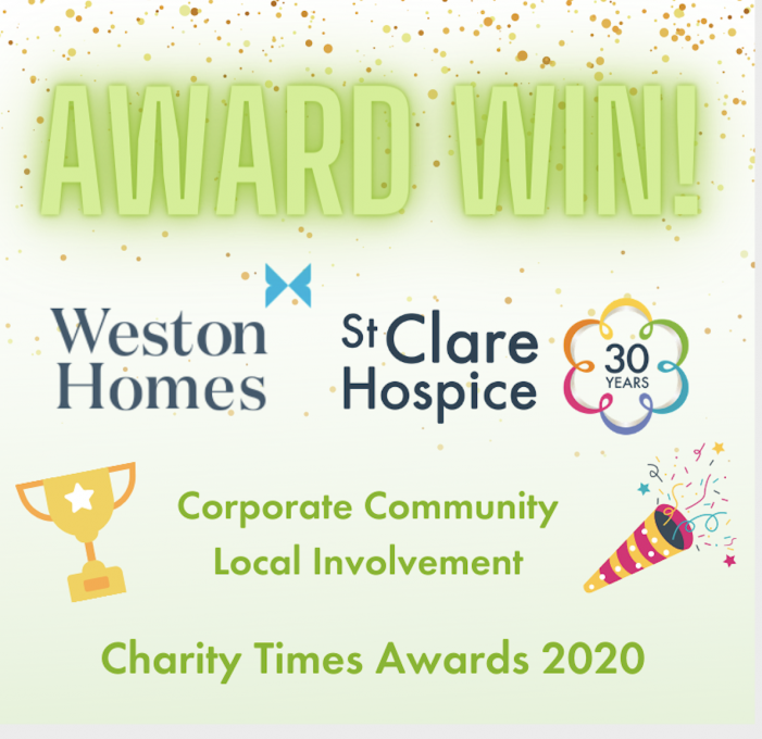 St Clare Hospice recognised with prestigious award