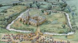 Medieval fairground found at Latton Priory