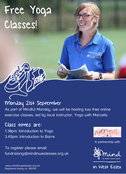 Free Yoga lessons with West Essex Mind
