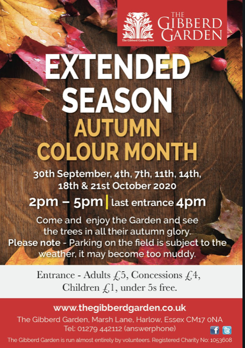 The Gibberd Gallery to celebrate the Colour of Autumn