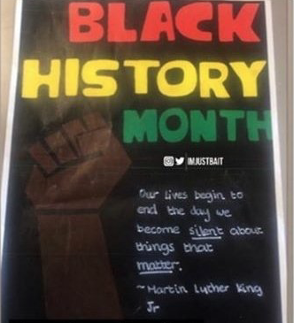 Stewards Academy students angry after Black History Month poster removed