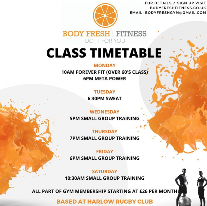 Great fitness classes at Body Fresh Fitness