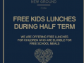 New Ground Cafe help out with Free School Meals
