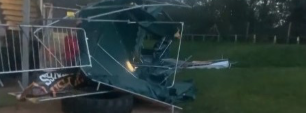 Appeal after gym suffers damage after strong winds