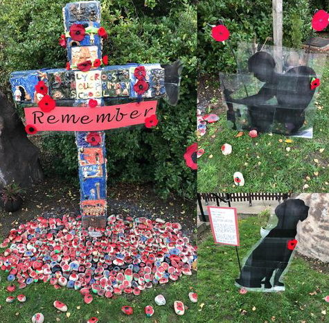 Poignant Remembrance Display at Holy Cross Primary