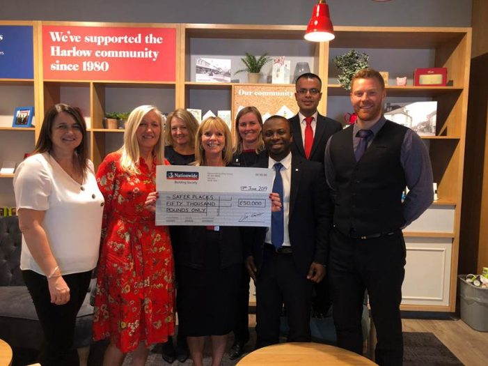 Safer Places awarded £50,000 grant from Nationwide Building Society