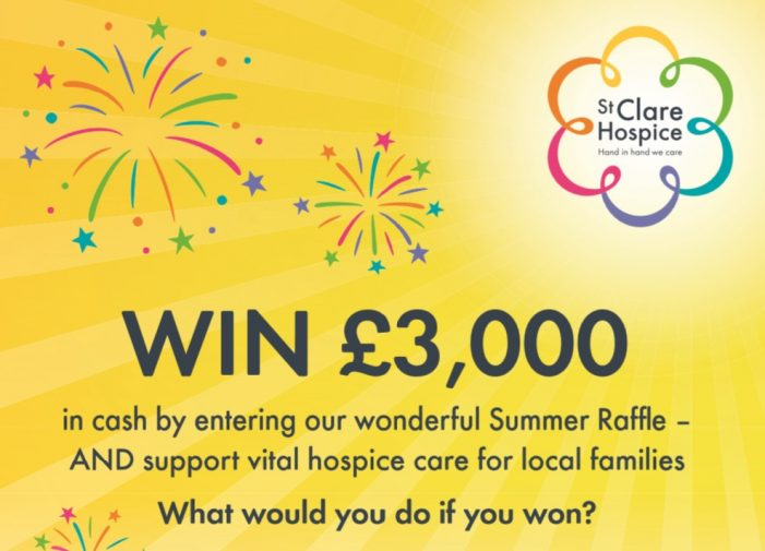You could win £3,000 by playing local Hospice raffle!